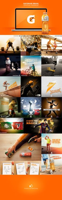 Gatorade Brasil Official Fanpage on Behance