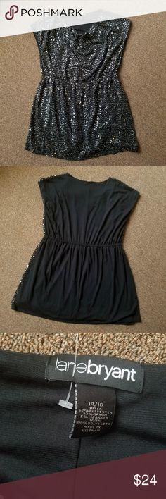 fc089778d3e1f EUC Lane Bryant Black Sequin Dress Sz 14-16 Soft and comfortable black dress  with