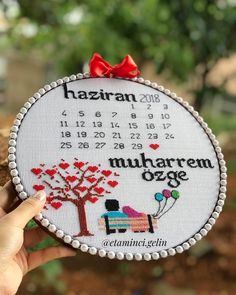 Muharrem ❤️ Özge çiftimin 30 Haziran'da düğnü varr duymayan kalmasıın 🙈 Floral Embroidery Patterns, Embroidery Hoop Art, Hand Embroidery Designs, Cross Stitch Embroidery, Wedding Cross Stitch Patterns, Modern Cross Stitch Patterns, Cross Stitch Designs, Simple Cross Stitch, Cross Stitch Baby