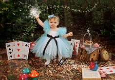 Alice In Wonderland Inspired Tutu Dress by ManaiaBabyDesigns, $48.00