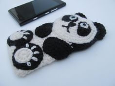 Panda crochet case sleeve cover for iPhone iPod by JillAndJoeys, $27.00