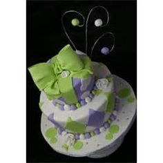 Fun Purple And Green Cake Slice At A Time  Creative Design picture 27818