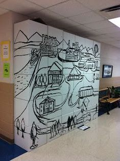 ChumleyScobey Art Room: What's going on in the Art Room? Should you enjoy arts and crafts you actually will really like this cool site! Group Art Projects, Collaborative Art Projects, School Art Projects, School Murals, Ecole Art, High School Art, Art Graphique, Art Lesson Plans, Art Classroom