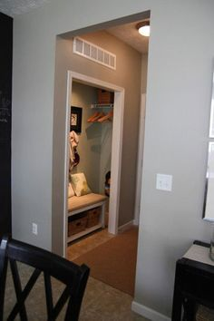 "Amazing ""mud room"" for you to sit and take your shoes and coat off and relax when you get home. LOVE IT"