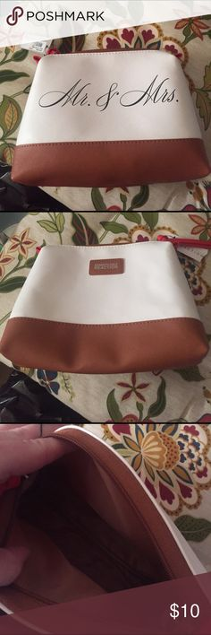 Makeup bag Mr & Mrs make up bag. Brand new with tags still attached. Kenneth Cole Bags Cosmetic Bags & Cases