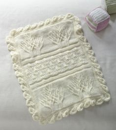 Baby Tree of Life Throw; free #knit pattern: makes a beautiful heirloom project