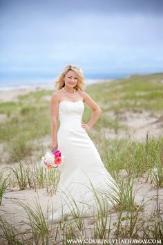 Bride on the beach Outer Banks Wedding, Beach Wedding, OBX, OBX Beach Wedding, Outer Banks Beach Wedding www.courtneyhathaway.com