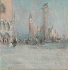 View The Piazetta, Morning By Bernard Dunstan; Access more artwork lots and estimated & realized auction prices on MutualArt. Splashback, Beautiful Paintings, Venice, Watercolour, Paint Colors, Diana, Buildings, British, English
