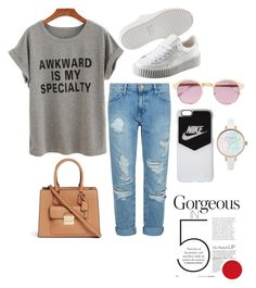 """""""Casual days"""" by lasagna-yay on Polyvore featuring Current/Elliott, Puma, Michael Kors, Sheriff&Cherry and NIKE"""