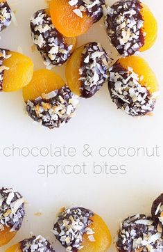 Chocolate and Coconut Apricot Bites
