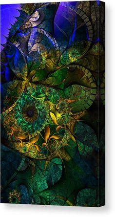 Time Travel Canvas Print featuring the mixed media New Dimensions by Marvin Blaine