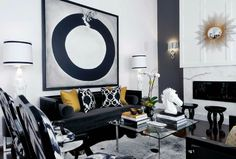 What Black White And Gold Living Room Design Is - and What it Is Not - myria. What Black White And Gold Living Room Design Is – and What it Is Not – myriadinspira Black And Gold Living Room, Living Room White, Living Room Sofa, Living Rooms, White Bedroom, Living Area, Black Sofa Living Room Decor, Gold Bedroom, Cozy Living