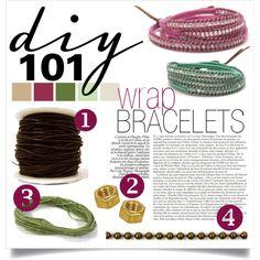 """""""DIY: Wrap Bracelets"""" by diy101 on Polyvore"""
