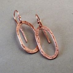 All Copper Stretched Hoops by DianaMadeIt on Etsy