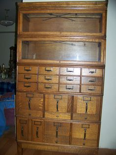 file cabinet and bookcase