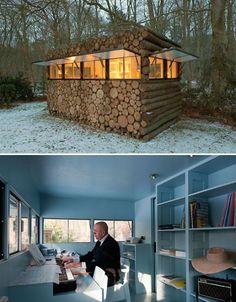 Log Cabin Recording Studio by Piet Hein Eek-Top 10 Outside Offices