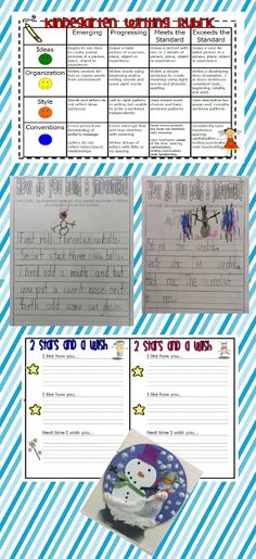 """Writing Rubric and """"2 Stars and a Wish"""" paper to reflect.  FREEBIE!"""