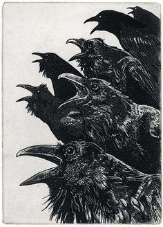 """INQUISITION"" Etching, Larry Vienneau Jr www.Etsy.com/shop/RAVENSTAMPS These guys look fun!"