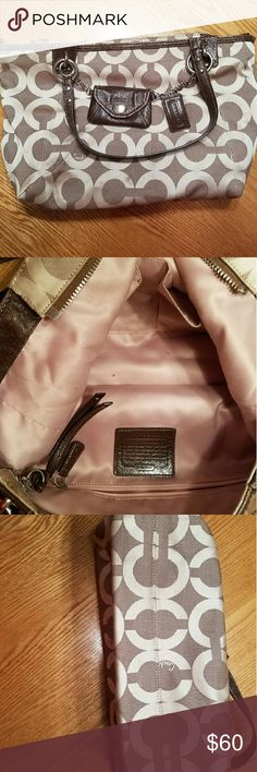Coach purse Authentic bag.  Very little wear on the outside and inside.  Some spots inside, but nothing major.  Smoke free home. Coach Bags Shoulder Bags