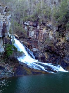 One of the waterfalls at the bottom of Talullah Falls Gorge in Clayton, GA