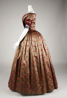Evening dress Date: ca. 1842 Culture: American or European Medium: silk