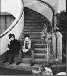Japan (the band) Richard Barbieri and Steve Jansen (1980's).