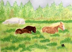 Horses at Rest (Painting), in by Suzanne Berton Horses at Rest uses ink on watercolor paper Special thanks to Stan Collins for use of photos Clydesdale, Conceptual Art, Watercolor Paper, Moose Art, Original Art, Rest, Canada, Horses, Ink