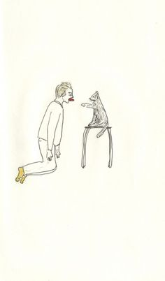 """franco and frenchie pulling a tongue at a cat : Donner sa langue au chat elise bergamini to give up (""""to give one's tongue to the cat"""")"""
