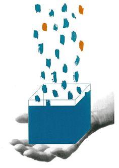 Siebdruck - VIERKAND Siebdruck Collage A3 Geometrics Hand - ein Designerstück von Morkebla bei DaWanda