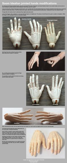 Soom Idealian Hands modifications by scargeear on DeviantArt