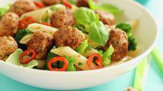 Mediterranean Lamb Meatballs with Paleo Tzatziki Tzatziki Recipes, Tzatziki Sauce, Dairy Free Sauces, Paleo Recipes, Cooking Recipes, Lamb Meatballs, Paleo Meal Plan, Healthy Protein, Caramel