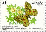 Sello sobre mariposa