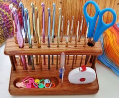 Handcrafted Standard Grip Crochet Hook Workstation by Chetnanigans  Great gift idea!