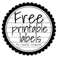 Sweetly Scrapped: Free Printable Tags
