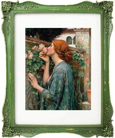 John William Waterhouse, Framed Canvas Prints, Canvas Wall Art, Fine Art Photo, Photo Art, World Famous Artists, Rose Frame, Pre Raphaelite, Rose Art