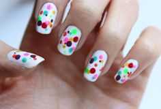 polka dotted nails