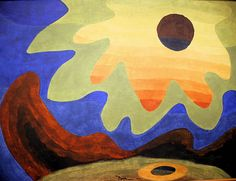 Arthur Dove - Sun, 1943 at Smithsonian American Art Museum Washington DC Arthur Dove, Abstract Painters, Abstract Landscape, Abstract Art, Landscape Paintings, Yves Klein, Robert Rauschenberg, Helen Frankenthaler, Action Painting