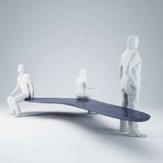 Levitating sculptural seat