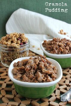 Your Favorite Granola Pudding is a stick to you ribs breakfast comfort food and because it is sweet it can also be satisfying for dessert. So very easy!