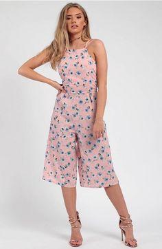 Floral Cami Culotte Jumpsuit
