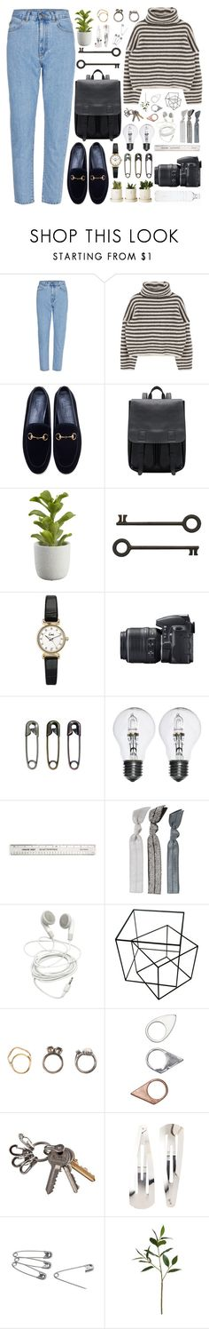"""""""You're Somebody Else"""" by annaclaraalvez ❤ liked on Polyvore featuring Gucci, Crate and Barrel, Topshop, Nikon, Tim Holtz, Emi-Jay, Iosselliani, Monki, Adia Kibur and Sia"""