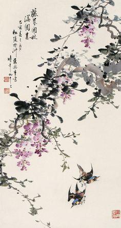 Kunst asiatische Kalligraphie chinesische Liebe orientalische Schriftrolle