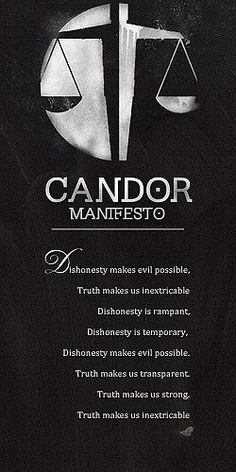 Divergent by Veronica Roth | Divergent series | Candor manifesto