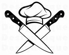Rundes Logo, Cooking Tattoo, Kreis Logo, Chef Tattoo, Chef Logo, Kitchen Logo, Wall Painting Decor, Drawing Tutorials For Beginners, Bakery Logo Design