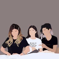 Friends Illustration, Illustration Art Drawing, Portrait Illustration, Graphic Illustration, Digital Illustration, Portrait Cartoon, Portrait Art, Cover Wattpad, Feminist Art