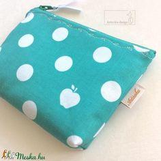 Zöld fehér almás, irattartó pénztárca (Mesedoboz) - Meska.hu