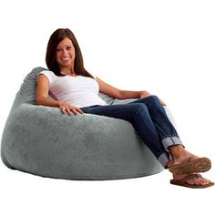 Fuf Chillum Comfort Suede Bean Bag Chair, Multiple Colors