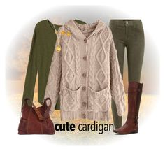 """""""My Favorite Cardigan"""" by winscotthk ❤ liked on Polyvore featuring J Brand, Frye, Kooba and Ross-Simons"""