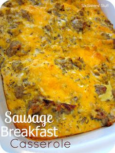 Sausage Breakfast Casserole Recipe | Six Sisters' Stuff