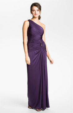 Adrianna Papell Draped Jersey One Shoulder Gown available at #Nordstrom